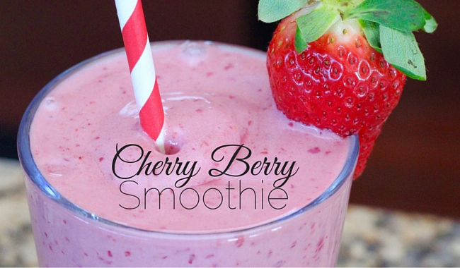 Cherry Berry Smoothie - Giggles, Gobbles and Gulps
